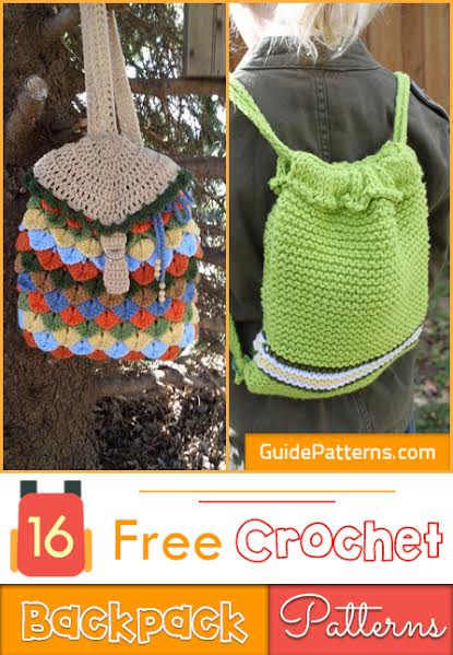 16 Free Crochet Backpack Patterns Guide Patterns