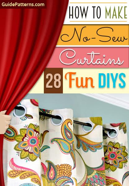 How to Make No-Sew Curtains: 28 Fun DIYs | Guide Patterns