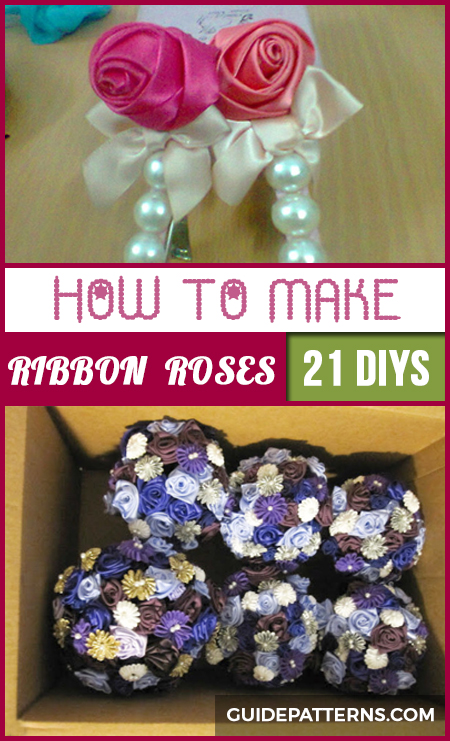 how to make ribbon roses step by step