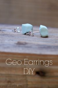 Handmade Polymer Clay Geo Earrings