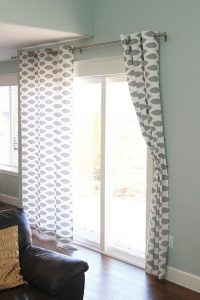 Homemade No-Sew Curtains