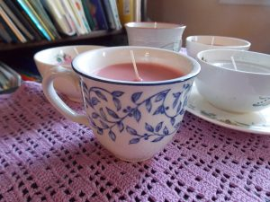 Homemade Teacup Candles