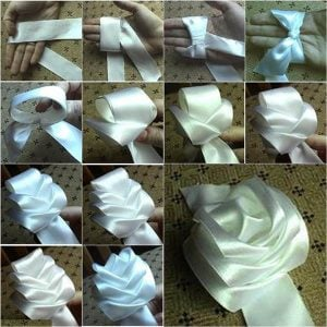 How to Make a Ribbon Rose Step by Step