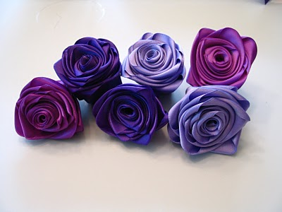 How to make beautiful satin ribbon rose /flower craft | DIY | hair ... | 300x400