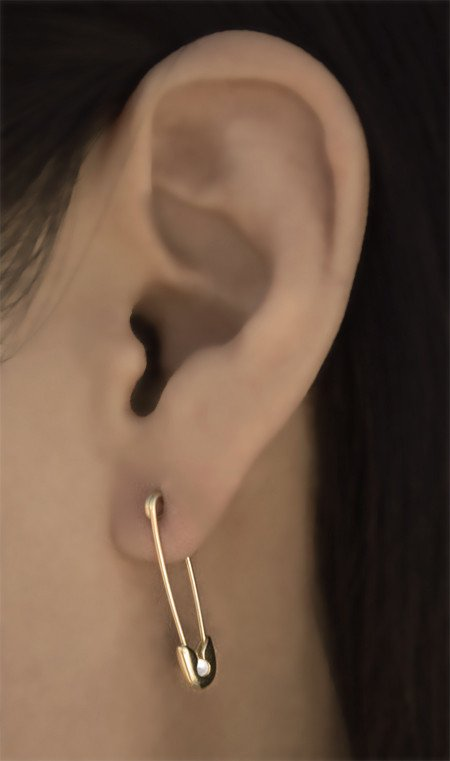 How To Make Safety Pin Earring
