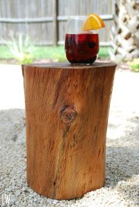 How to Make Tree Stump Side Table
