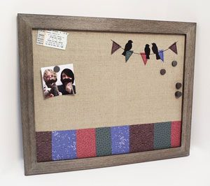 Magnetic and Pushpin Bulletin Board