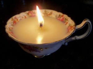 Making Candle in a Teacup