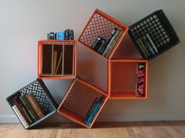 Charmant Milk Crate Shelves