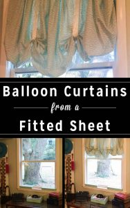 No-Sew Balloon Curtains