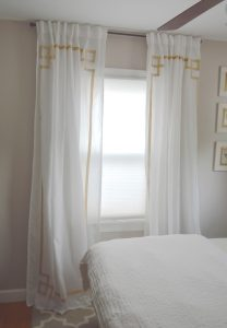 No-Sew Greek Key Curtains