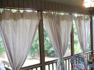 No-Sew Patio Curtains