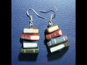 Polymer Clay Book Earrings
