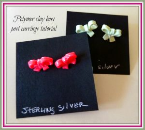 Polymer Clay Bow Earrings