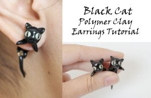 Polymer Clay Cat Earrings