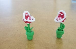 Polymer Clay Mario Earrings