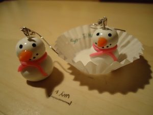 Polymer Clay Snowman Earrings