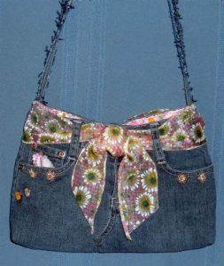 Recycled Jeans Purse