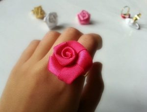 Ribbon Rose Ring