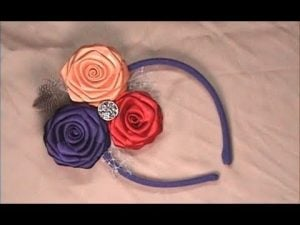 Ribbon Roses Headband