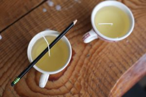 Teacup Beeswax Candles