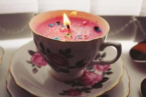 Teacup Birthday Candle