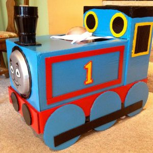 Cardboard Box Thomas the Train