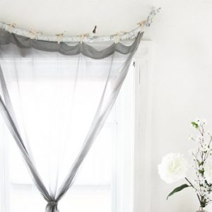 DIY Tree Branch Curtain Rod