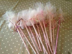 Tulle Pom Pom Fairy Wands