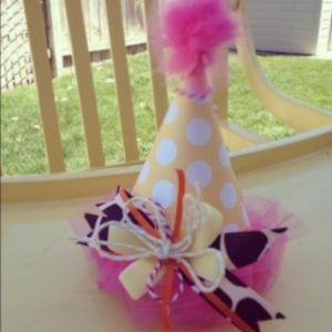 Tulle Pom Pom Party Hat
