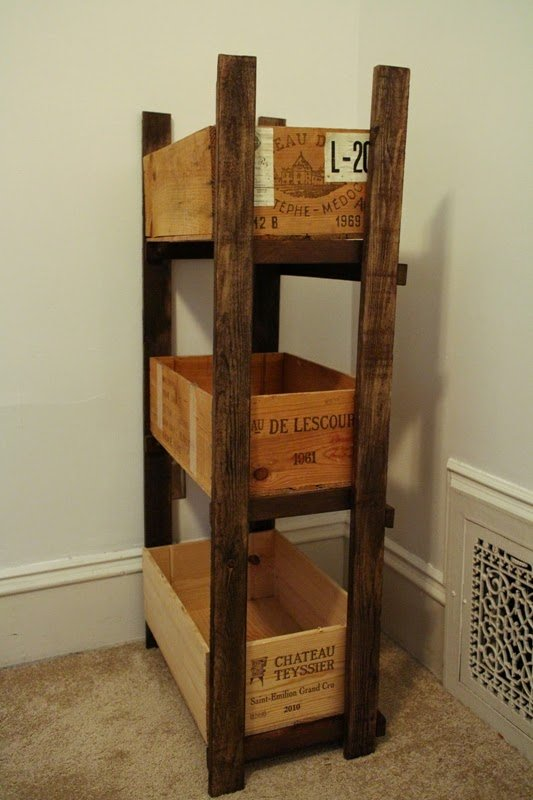 Crate shelves 25 diys guide patterns What to do with wine crates