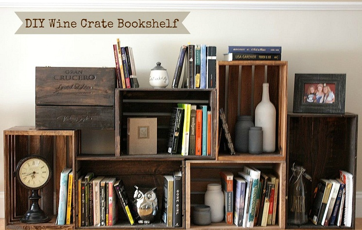 wooden crates shelves - Using Crates As Bookshelves
