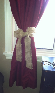 Burlap Curtain Tie Back