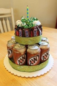 Candy Bar Birthday Cake