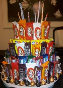 Candy Bar Cake Idea