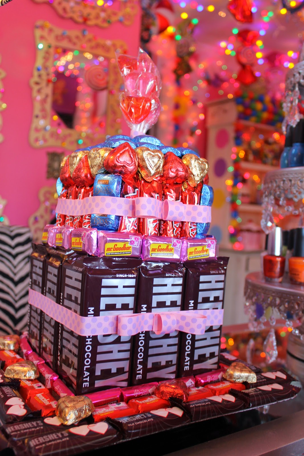 How To Make Candy Cake Tower