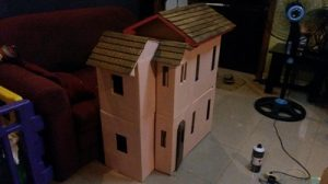 Cardboard Barbie Dollhouse