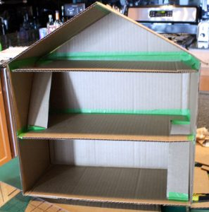 Cardboard Box Dollhouse