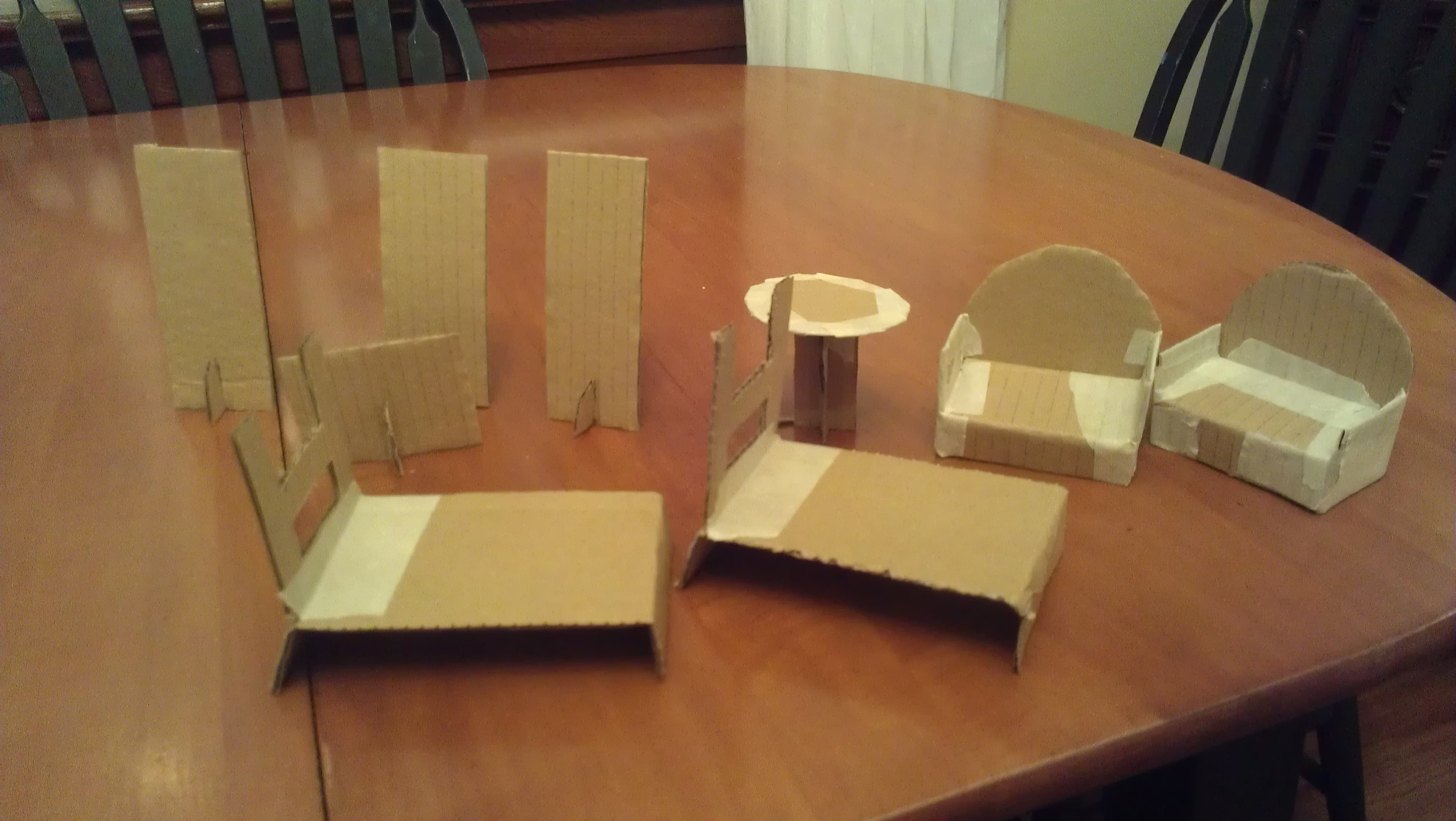 13 Cardboard Dollhouse Plans Guide Patterns