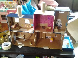 Cardboard Dollhouse Plan