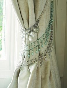 Crystal Curtain Tie Back