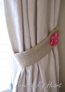 Curtain Tie Back Design