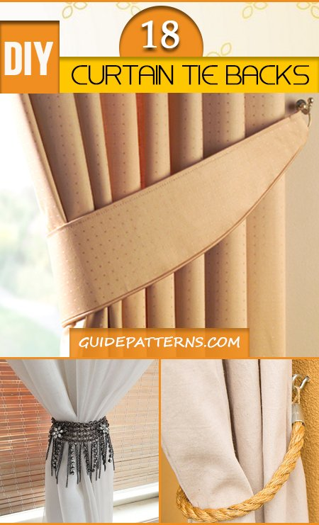 64 DIY Curtain Tie Backs