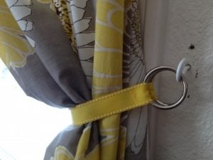 Curtain Tie Back DIY