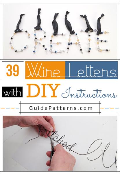 diy wiring guide 39 wire letters with diy instructions | guide patterns