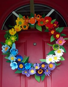 Egg Carton Easter Wreath