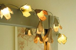 Egg Carton Flower Christmas Lights