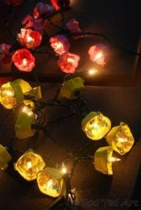Egg Carton Flower Fairy Lights