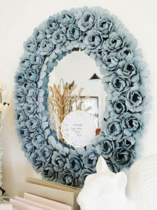 Egg Carton Flower Mirror