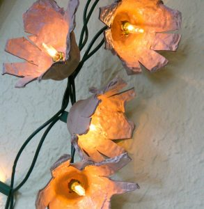 Egg Carton Flower String Lights